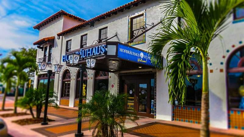 Jan 31 2016 Hofbruuhaus German Restaurant Front Entrance In St Petersburg Florida