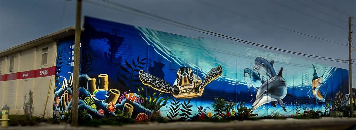Jan 31, 2016 - Island Nautical Doyle Sailmakers building mural in Grand Central District St. Pete, FL/photonews247.com