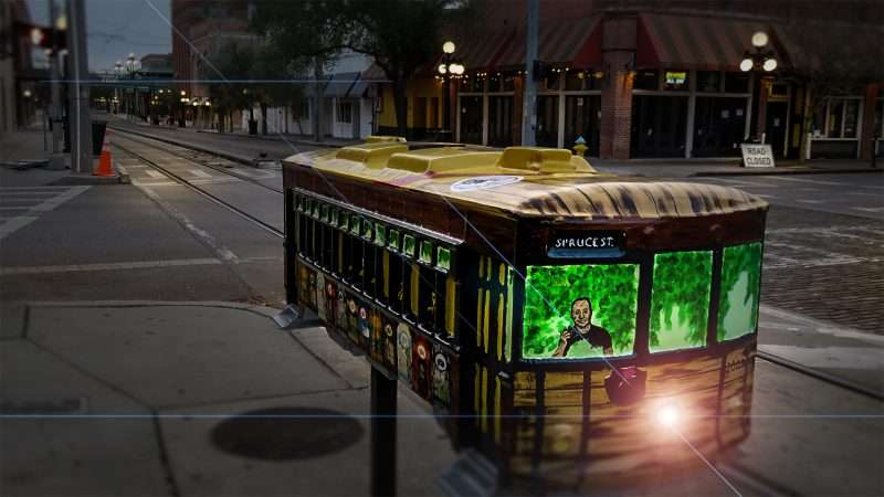 Mar 27, 2016 - Model Streetcar Sculpture created by Sunday Purselley for the Cigar City Brewing Co Tampa FL/photonews247.com