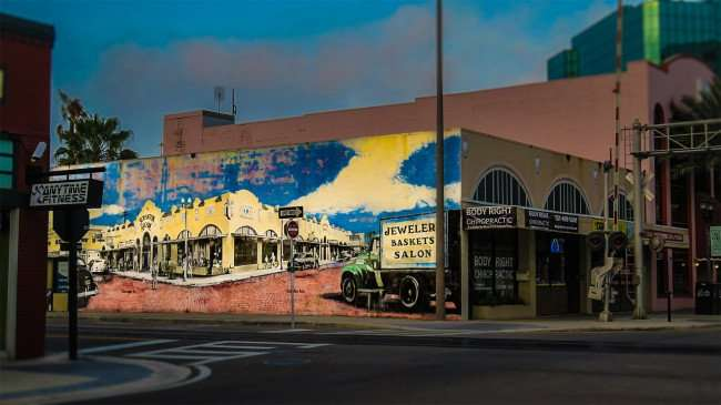 Mar 13, 2016 - Mural of historic Scranton Arcade and Jeweler Baskets Salon in Clearwater, FL/photonews247.com