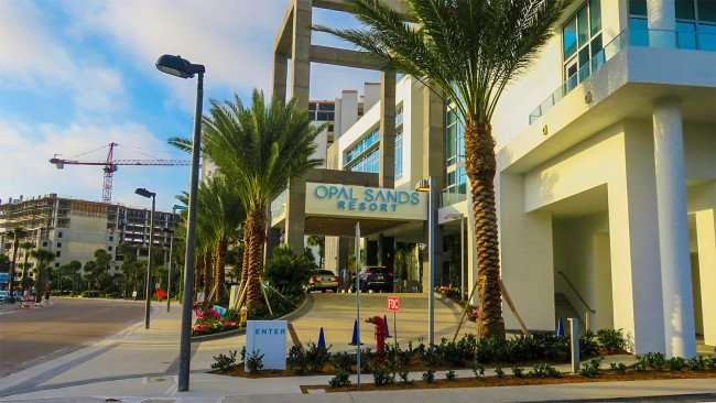 Mar 13, 2016 - Opal Sands Resort driveway entrance with valet parking in Clearwater Beach, FL/photonews247.com