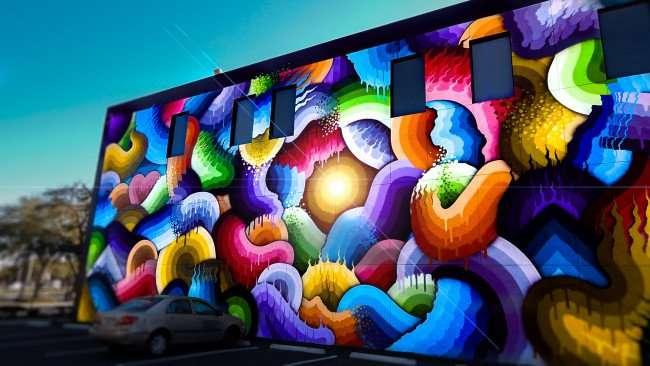 Mar 6, 2016 - Prescription Shop St Pete with colorful mural/photonews247.com