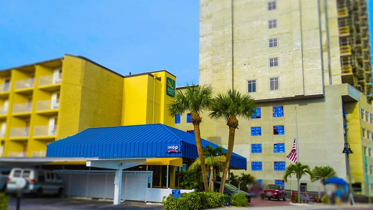 Mar 13, 2016 - Quality Motel, IHOP Restaurant next to Hampton Inn construction, Clearwater Beach, FL/photonews247.com