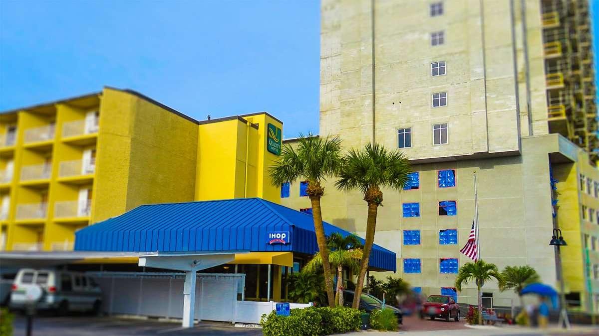 Mar 13, 2016 - Quality Motel, IHOP Restaurant next to Hampton Inn construction, Clearwater Beach, FL/photonews247.com