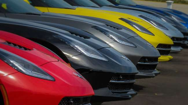Mar 17, 2016 - Six Corvettes front ends lined up at Ferman Chevrolet, Tampa, FL/photonews247.com