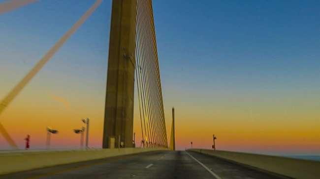 Mar 6, 2016 - Skyway Bridge with no cars Tampa Bay/photonews247.com
