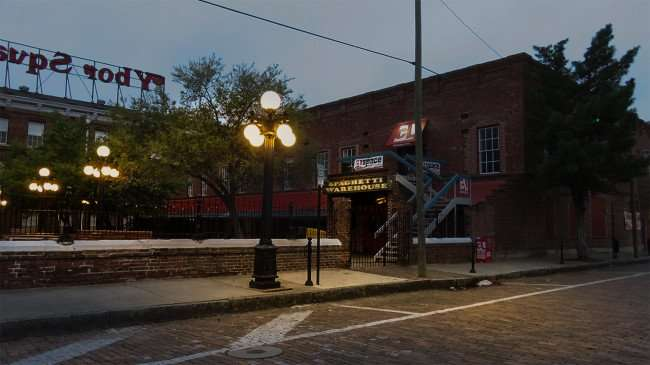Mar 27, 2016 - Spaghetti Warehouse with street lights on Ybor City Tampa/photonews247.com
