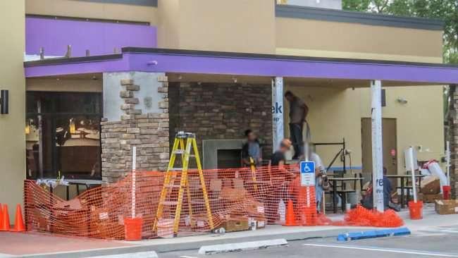 April 22, 2016 - Taco Bell Patio construction, Sun City Center, FL/photonews247.com