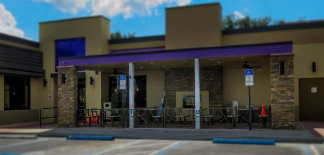April 26, 2016 - Taco Bell outside dining area under construction in Sun City Center, FL/photonews247.com