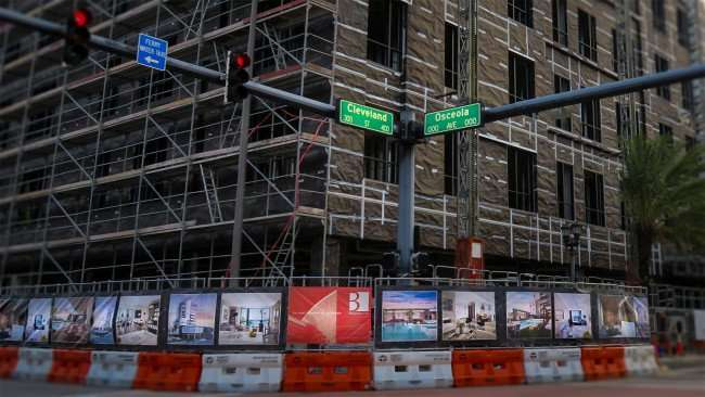 Mar 13, 2016 - The Skyview under construction at the corner of Cleveland St. and Osceola Ave. in the Cleveland Street District of Clearwater, FL/photonews247.com