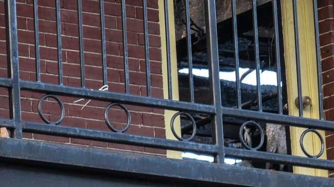 April 10, 2016 - Amphitheater Ybor 2nd floor balcony with roof damage 1609 7th Ave, Ybor Tampa, FL/photonews247.com