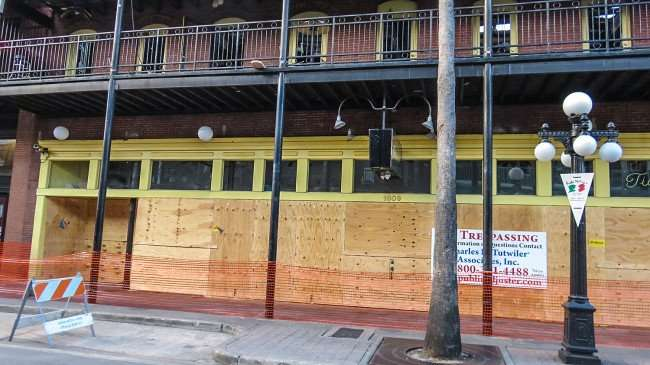 April 10, 2016 - Amphitheater Ybor boarded and closed due to fire on 1609 7th Ave, Ybor Tampa, FL/photonews247.com
