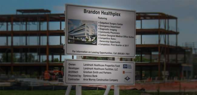 April 17, 2016 - Brandon Healthplex under construction in by Arco TopGolf/photonews247.com