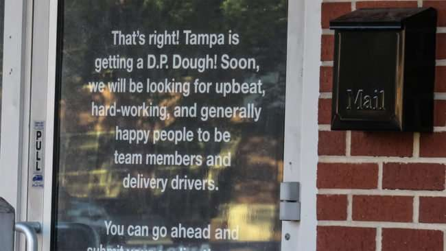 April 24, 2016 - DP Dough looking for workers for its SoHo location in Tampa/photonews247.com