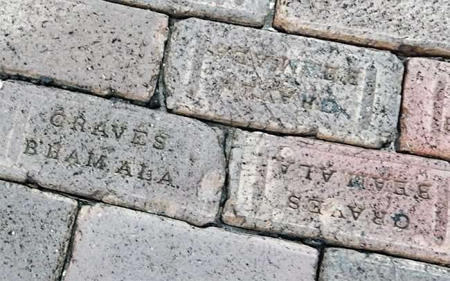 Aug 31, 2015 - Graves antique paving bricks on Whiting Street in downtown Tampa, FL/photonews247.com