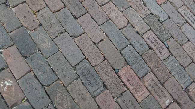 Aug 31, 2015 - Graves antique paving bricks on Whiting Street, Tampa, FL/photonews247.com