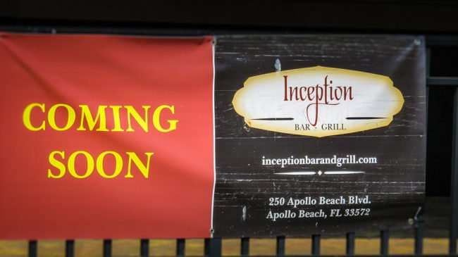 April 14, 2016 - Inception Bar & Grill coming soon, Apollo Beach Blvd Southshore, FL/photonews247.com