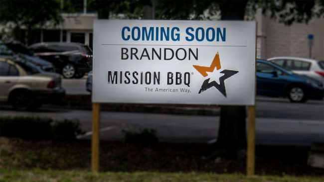 April 20, 2016 - MISSION BBQ, coming to brandon, FL/photonews247.com