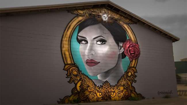 Mar 27, 2016 - Mural by Artists Richie Brasil at MF Arts, Ybor City Tampa/photonews247.com