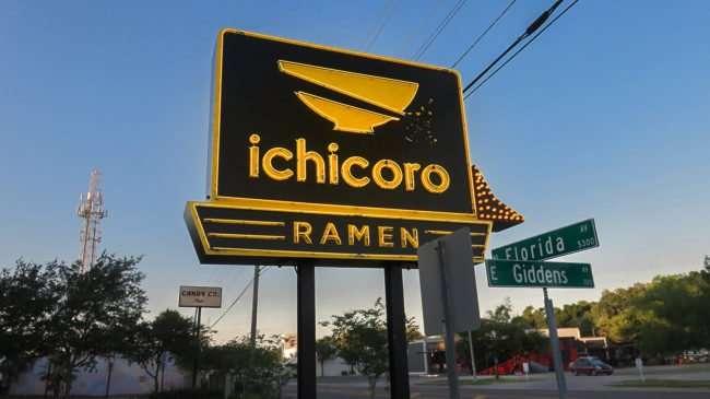 May 8, 2016 - Neon sign for Ichicoro Ramen restaurant, Seminole Heights, Tampa/photonews247.com
