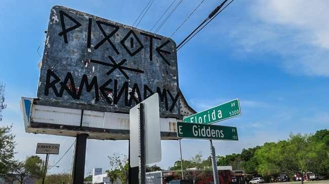 Mar 27, 2016 - Old sign at Ichicoro Ramen at corner of E Giddens and Florida Ave, Seminole Heights, Tampa/photonews247.com