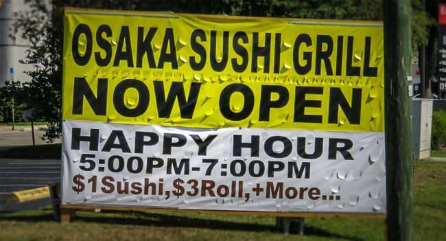 April 24, 2016 - Osaka Sushi Grill now open Carrollwood Tampa, FL/photonews247.com
