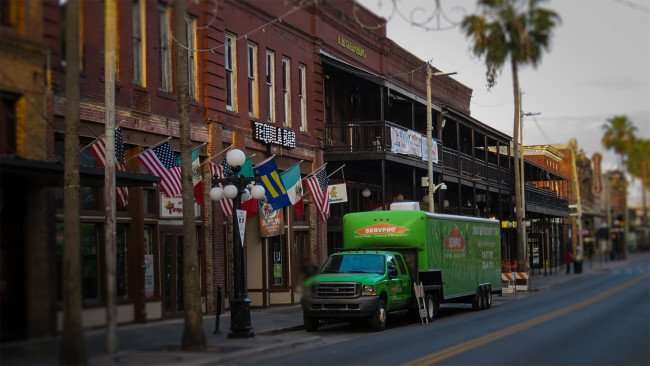 April 10, 2016 - Servpro parked in front of Tequila Bar and Jazz House after fire on 7th Avenue, Ybor City Tampa/photonews247.com