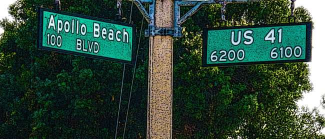 April 14, 2016 - Street signs 100 Apollo Beach Blvd and 6200 - 6100 US 41/photonews247.com