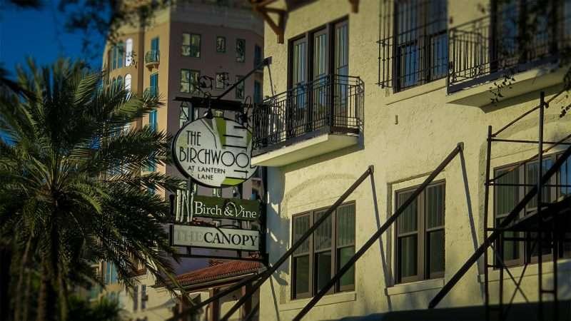 Feb 21 2016 The Birchwood Hotel Birch Vine And Canopy Signage In St Petersburg FL Photonews247