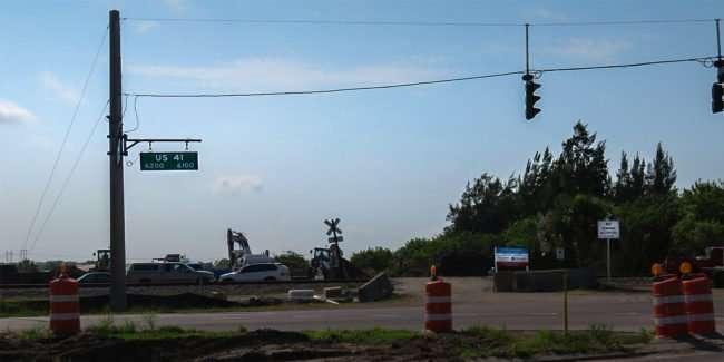 April 14, 2016 - US 41 & Apollo Beach Blvd construction site SouthShore, FL/photonews247.com