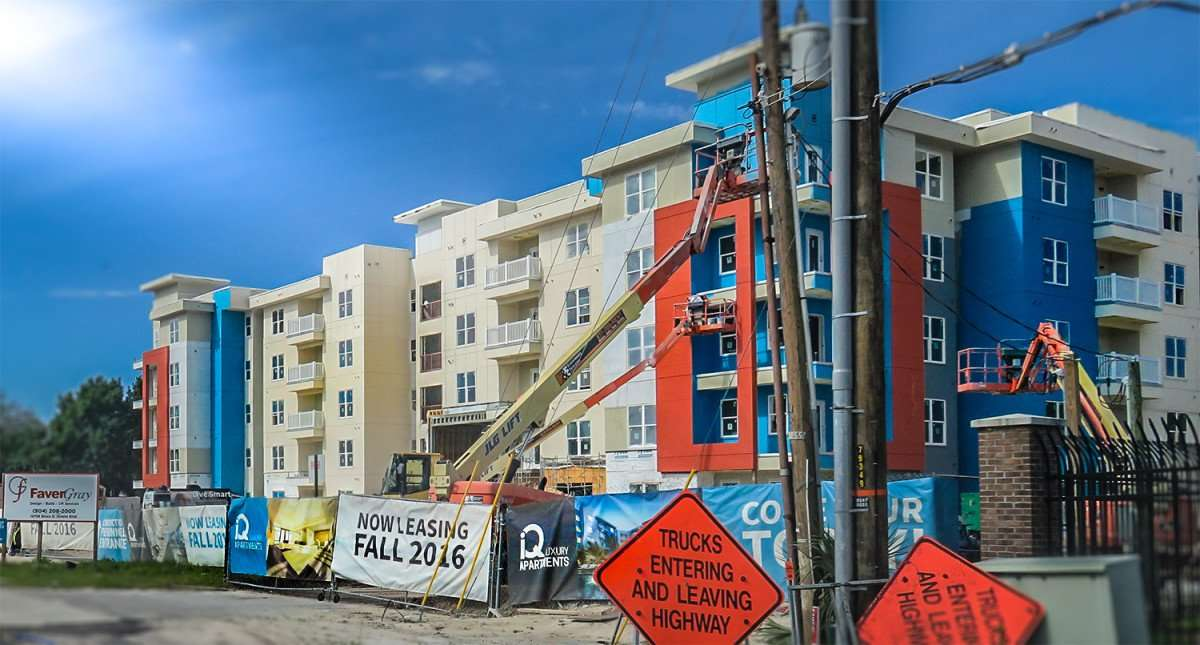 April 10, 2016 - iQ Apartments luxury student apartments under construction in Tampa, FL/photonews247.com