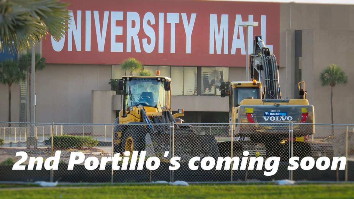 May 22, 2016 - 2nd Portillo's under construction at University Mall, E Fowler Ave, Tampa/photonews247.com