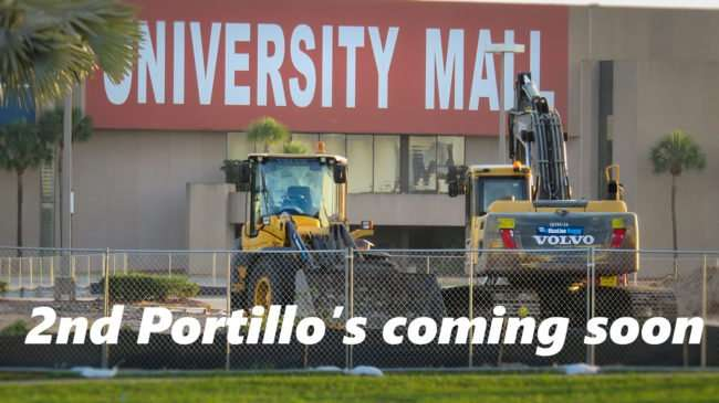 May 22, 2016 - 2nd Portillo's under construction at University Mall, E Fowler Ave, Tampa/photonews247.com