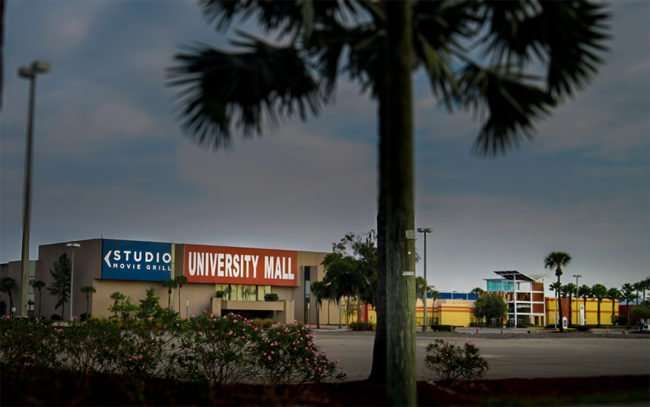 2016 - Future Portillo's Restaurant will be built as out parcel in front of theater at University Mall along E Fowler Ave, Tampa, FL/photonews247.com