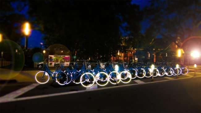May 1, 2016 - Ulele Restaurant in background behind a row of Coast Bikes in Tampa, FL/photonews247.com