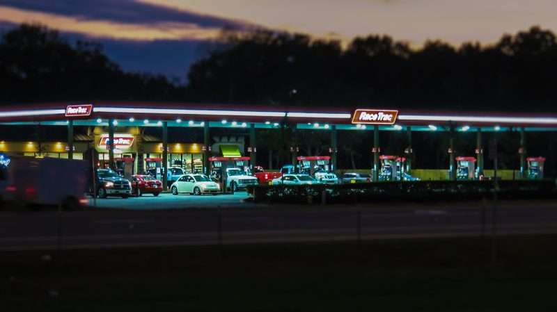 12.23.2016 - RaceTrac on College Avenue after renovations in Ruskin, FL night shot/photonews247.com