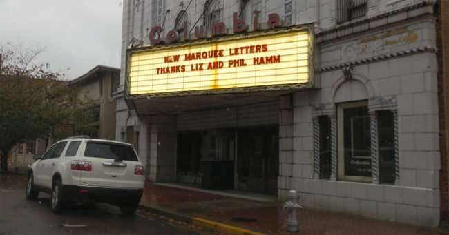 11.23.2016 - Marquee letters donated by Liz and Phil Hamm for the Columbia Theatre, Paducah KY/photonews247.com