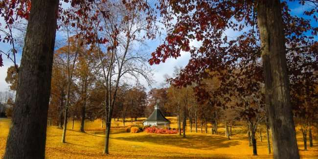 11.25.2016 - Whitestone Country INN: secluded outdoor gazebo in Kingston, TN