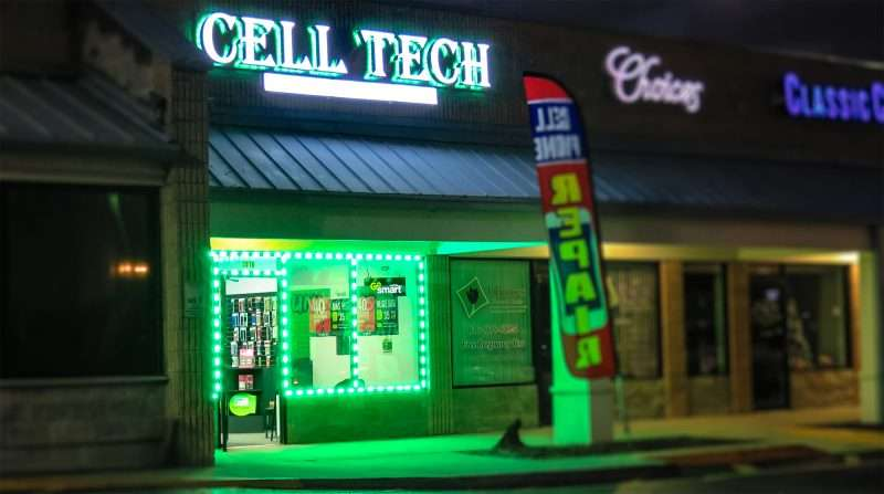 cell phone store signs