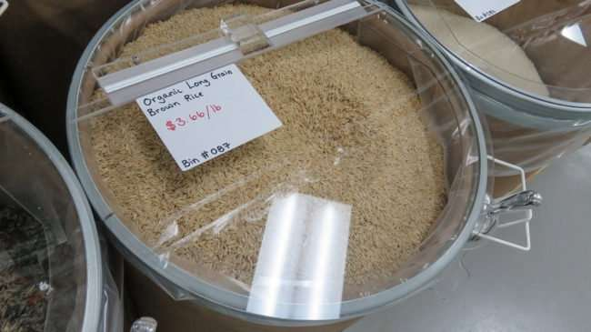Dec.23.2016 - $3.66/LB for Organic Long Grain Brown Rice at Bulk Foods Superstore, Ruskin, FL/photonews247.com