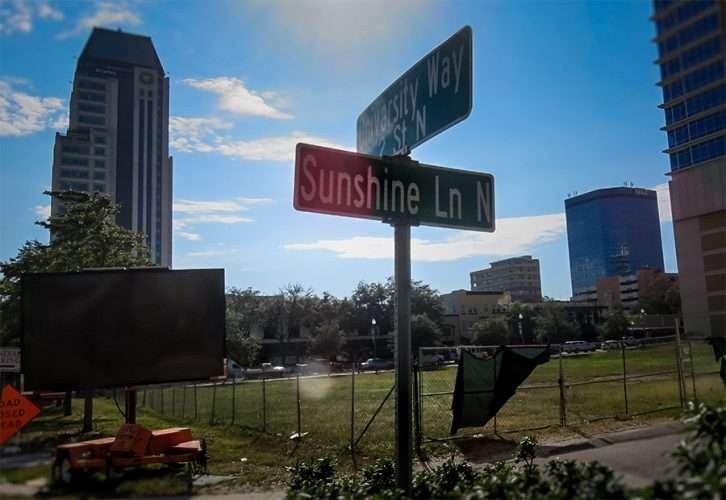 Dec 16, 2015 - vacant land for hotel, apartments, retail at 2nd Street North (aka University Way) and Sunshine Lane North St Petersburg, FL/photonews247.com