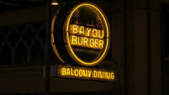 Jan 9, 2017 - Bayou Burger and Sports Company Balcony Dining, Bourbon Street, New Orleans, LA/photonews247.com