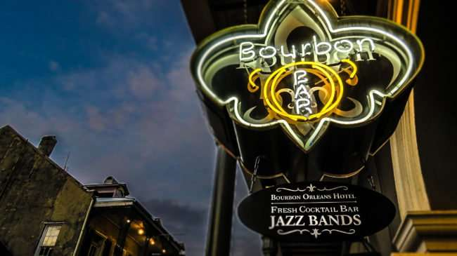 Jan 9, 2017 - Bourbon Orleans Hotel bar neon sign on Bourbon Street, French Quarter/photonews247.com