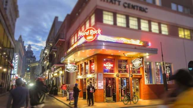 Jan 9, 2017 - Canon PowerShot SX710 HS takes photo of Hard Rock Cafe, Bourbon Street, New Orleans/photonews247.com