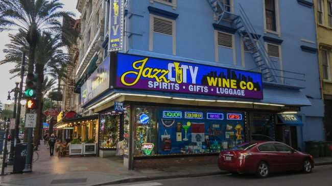 Jan 9, 2017 - Canon PowerShot SX710 HS takes photo of Jazz City Wine Co, Canal Street/photonews247.com