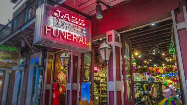 Jan 9, 2017 - Canon PowerShot SX710 HS takes photo of Jazz Funeral Shop, New Orleans/photonews247.com