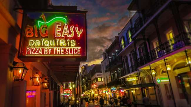 Jan 9, 2017 - Canon PowerShot SX710 HS takes photo of Neon sign for Big Easy Bar, New Orleans, LA/photonews247.com