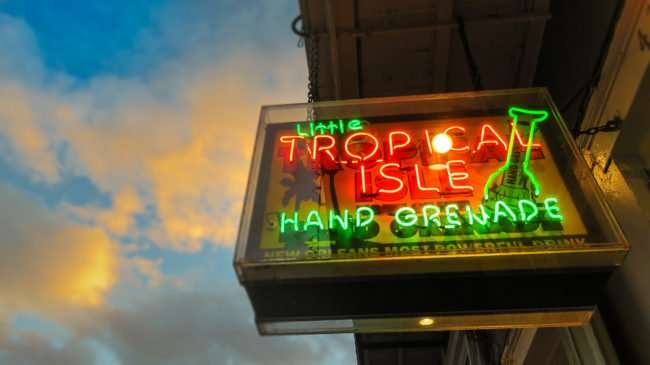 Jan 9, 2017 - Little Tropical Island Hand Grenade, Bourbon St, New Orleans, LA/photonews247.com