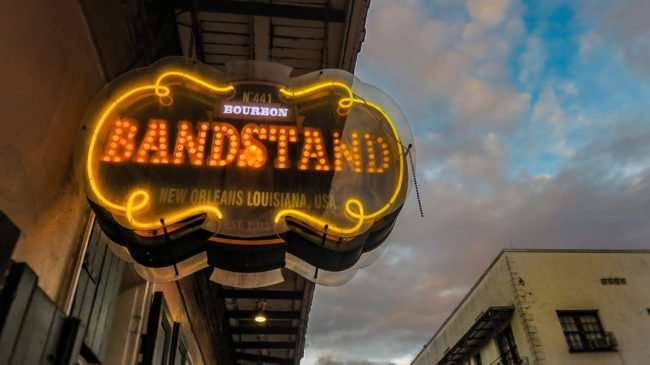 Jan 9, 2017 - Neon sign for Bourbon Bandstand New Orleans, LA/photonews247.com