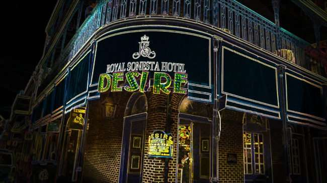 Jan 9, 2017 - Royal Sonesta Hotel Desire, Bourbon Street, New Orleans, LA/photonews247.com